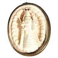 Miniature Devotional Carving Mary with Baby Jesus