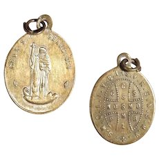 19C Religious Medal of Saint Benedict – One of the most Honored Medals