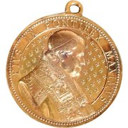 Bronze Medal  50Th Anniversary of the Episcope of Pius IX 1877 signed L. Penin - Pontifical engraver