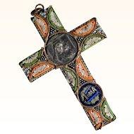 Micro Mosaic Cross Pendant ca. 1900