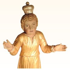 Excellent Hand Carved Jesus Statue 18/19C