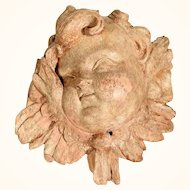19th Century Adorable  Hand Carved Putty Head