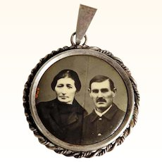 Old Silver Picture Pendant