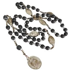 19th Century Beautiful French Rosary Seven Sorrows of Mary