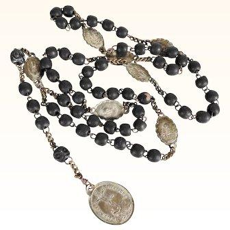 19th Century Beautiful French Rosary Seven Sorrows of Mary