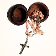 Old Rosary Glass Beads and its Chaplet Commemorative Holy Year 1925