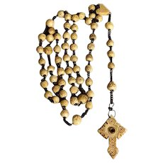 Antique Stanhope Rosary Confirmation Scenery