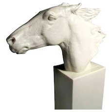Porcelain Horse Head Fantastic Work Rosenthal Manufactory