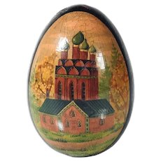 Russian Painted Wooden Egg