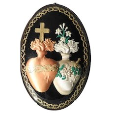 Large Reliquary Spiritually Reunited Hearts of Jesus and Mary