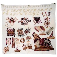 Sampler Great Motifs Rooster Birds and Dogs and Much More - Unusual