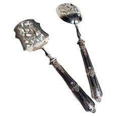 French Minerva Silver Hors D'oeuvres Serving Utensils Red Tag Sale Priced!