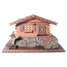 Large Sewing Box Chalet Shape Fantastic Details