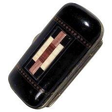 19th Century  Necessary Needle Case Specimen Pietra Dura Mosaic