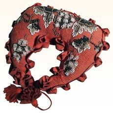 Unusual Pin Cushion Bead Work  Rare Shape