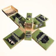 19th Century Folding Needle Case Sewing Etui Needles