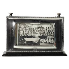 Whimsy Ship Picture Frame Woode and Sterling Birmingham 1926