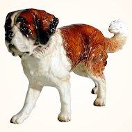 Fantastic Saint Bernard Dog  Porcelain Figurine Manufactory Goebel Germany