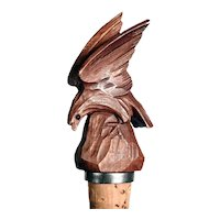 Hand Carved Miniature Eagle  Bottle Stopper ca. 1920