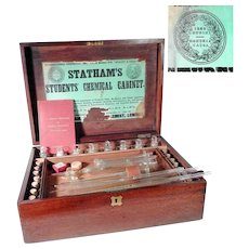 Antique Students' Chemical Cabinet Statham Portable Laboratory