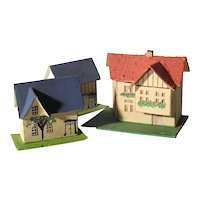 Three Lovely Putz Houses for Doll Village