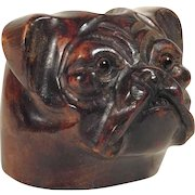 Fantastic Pipe Holder Dog Head Hand Carved