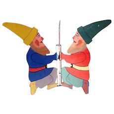 Old Christmas Tree Stand Gnomes