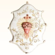 Sacred Heart Religious Embroidery Silk