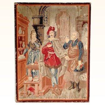 Great Berliner Wool Work Needlepoint Goldsmith Workshop 19th Century