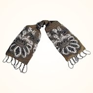 Misers Purse Money Belt Crocheted Beadwork ca. 1900
