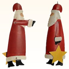 Large Santa Christmas Display Painted Sheet