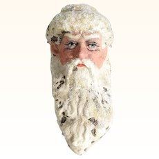 Hand Crafted Santa Head Papier Mache Christmas Ornament