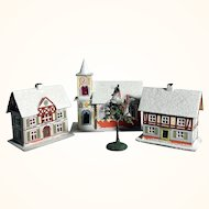 Putz Houses for a Doll Village