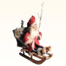 Santa on Sleigh with Gift Bag  - Have you been good this year?
