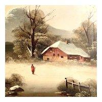 Charming Snowy Landscape Winter ca. 1880