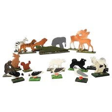 Miniature Zoo Wooden Animals and Birds for Doll House