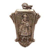 Infant of Prague Medal Pendant or Charm, Infant Jesus Catholic Devotional
