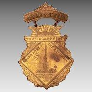 Civil War Veteran GAR Medal, 1897 Grand Army of the Republic, Union Army
