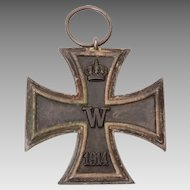 WWI 1914 Iron Cross Medal, Germany Prussia, Maker's Mark