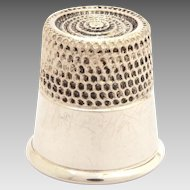 Simons Sterling Size 12 Thimble with Recessed Top & Plain Band
