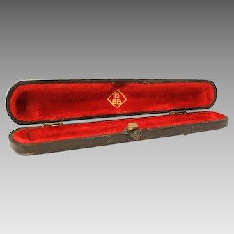 BBB Cigarette Holder Presentation Case, EMPTY Box, Red Velvet Lined