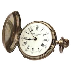 Francois Bergeon Locle Pocket Watch, 800 Silver Case, Remontoir Cylindre 10 Rubis, Antique Pocket Watch, FOR PARTS and REPAIR