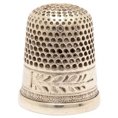 Sterling Thimble with Delicate Engraving Size 9