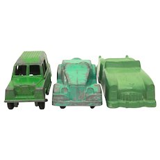 3 Die Cast Metal Toy Cars, Midgetoy Convertibles, Tootsietoy Land Rover