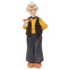 Pa Winkle German Bisque Nodder, Martin Branner Winnie Winkle Comic Strip Character