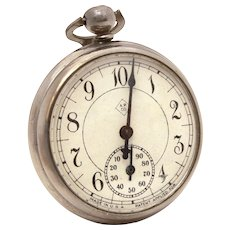 American Pedometer Co. Pocket Watch Style Step Counter with Glass Crystal
