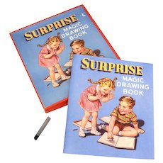 1940's Boxed Surprise Magic Drawing Book from Sam'l Gabriel Sons & Co. No. 860, Coloring Book