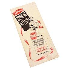 1939 Fritos Book of Recipes, Frito Co. Dallas Texas, Booklet Brochure