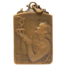1953 French Bronze Medal Le Soir Olympic F.C. Atheletisme, Woman with Greek Discus Thrower Trophy