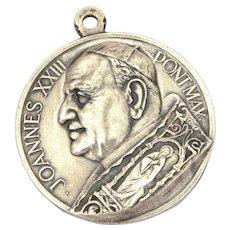 Pope John XXIII Catholic Medal Vatican Square Rome, Italian Made